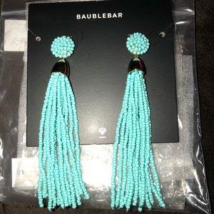 NWT BaubleBar Azelyn Tassel Earring. Turquoise